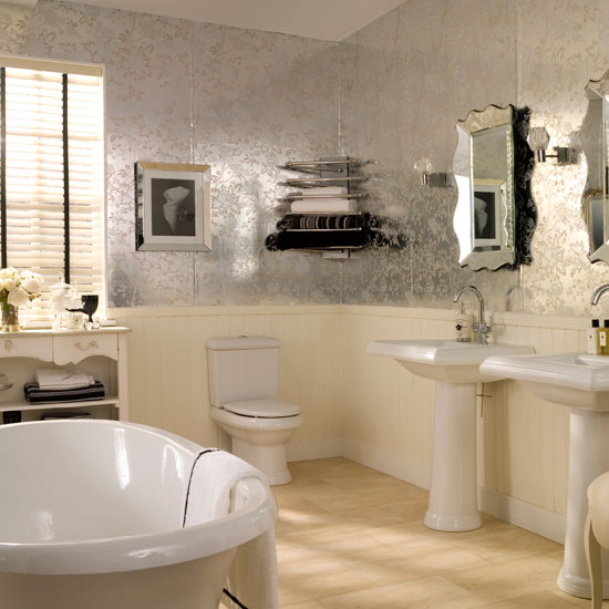 Bathroom Wallpaper on Pictures Stone Wallpaper Designs  Ideas Roomenvy   Athroom Decorating