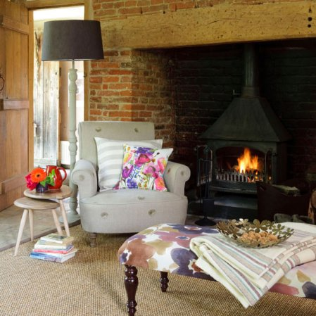 roomenvy - cosy living room fireplace