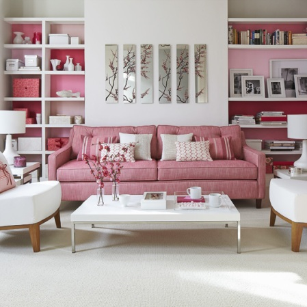 Pink living room - Summer of Love - Roomenvy