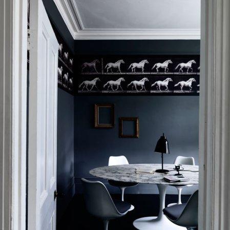 roomenvy - dining room wallpaper frieze