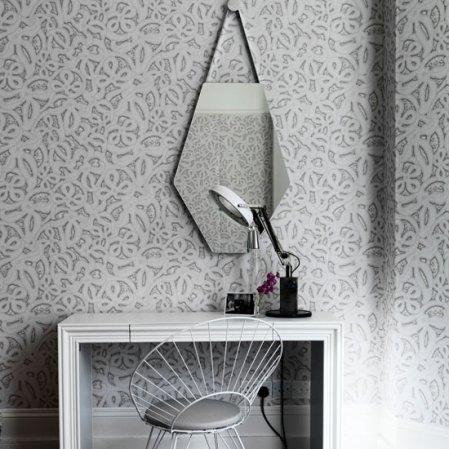 roomenvy - graphic wallpaper dressing room