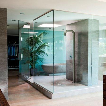 bathroom | Michael Bay house tour | Transformers 3 | Elle Decor