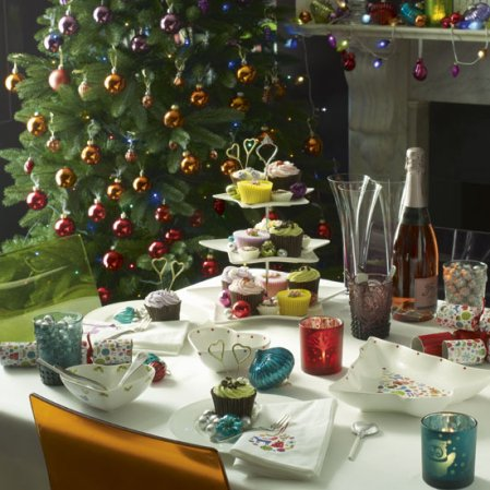Colourful dining room | Christmas | Christmas decorating ideas | John Lewis | image | Roomenvy