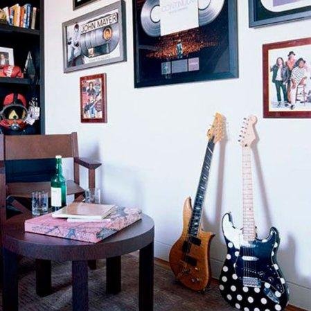 Music room | celebrity home | John Mayer Elle Decor