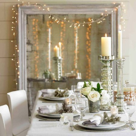 Festive dining room | Christmas | Christmas decorating ideas | The White Company