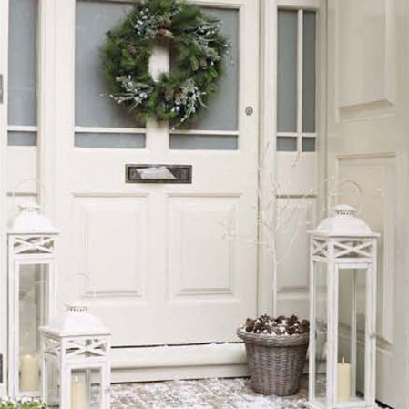 Festive front door | Christmas | Christmas decorating ideas | The White Company