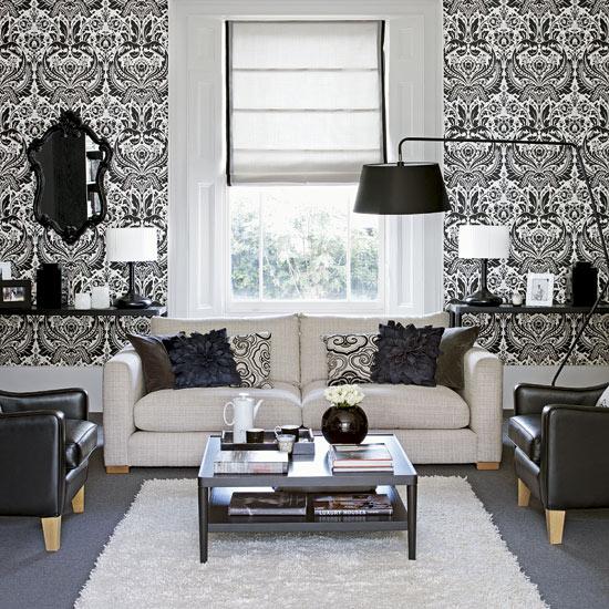 Wallpaper Designs Living Room Contemporary Living Room Ideas