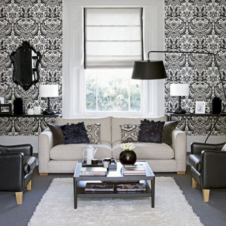 wallpaper ideas for living rooms - roomenvy
