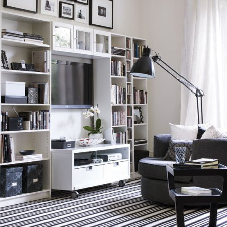 living room design ideas for monochrome decorating fans - roomenvy
