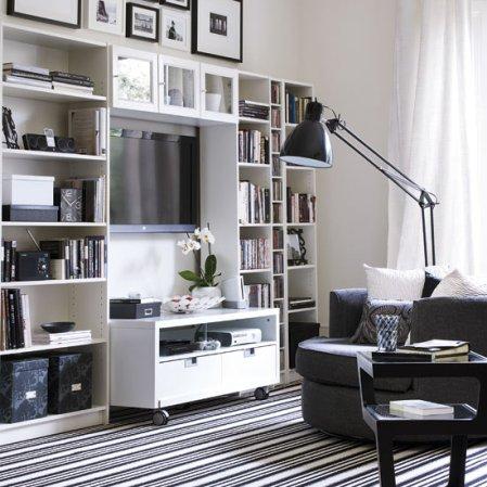 living room design ideas for monochrome decorating fans - roomenvy