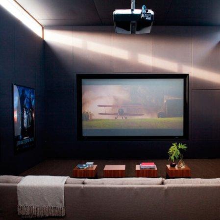 TV entertainment zone | living room | Michael Bay house tour | Transformers 3 | Elle Decor