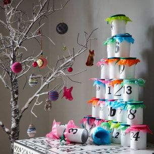 advent calendar craft idea | christmas | easy christmas ideas | livingetc | roomenvy