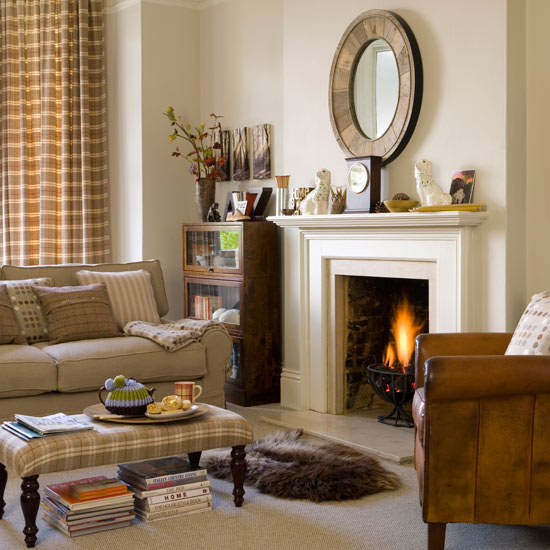 ideas to decorate a living room on Living Room   Winter Decorating Ideas   Decorating   Ideal Home
