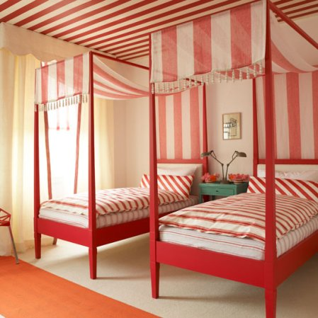 red bedroom | bedroom design ideas | Homes & Gardens