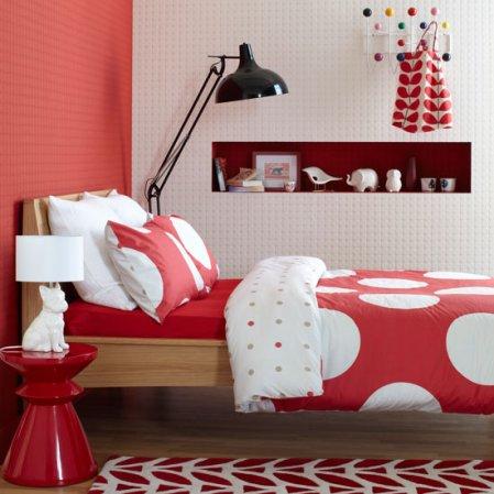 red bedroom | bedrooms | bedroom design ideas | Ideal Home