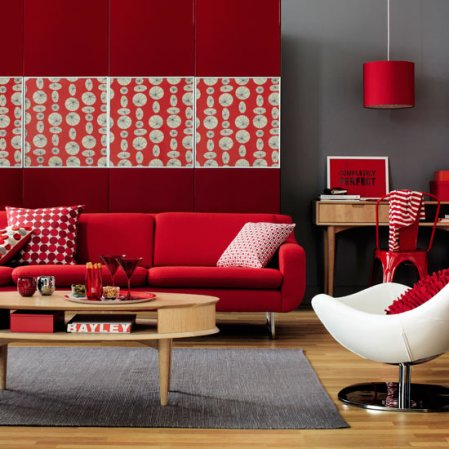 red living room | decorating ideas for living rooms | living room decorating ideas | Ideal Home