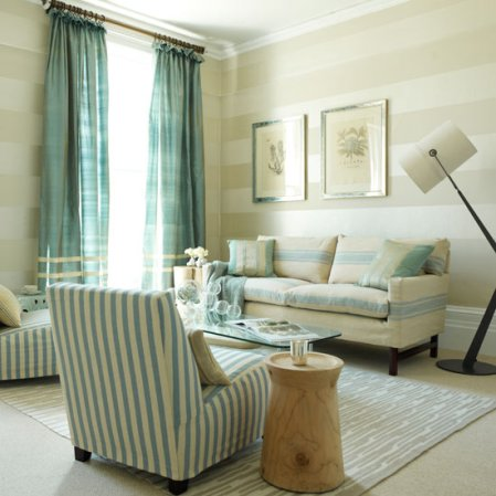 stripes living room room | living room decorating ideas | Homes & Gardens