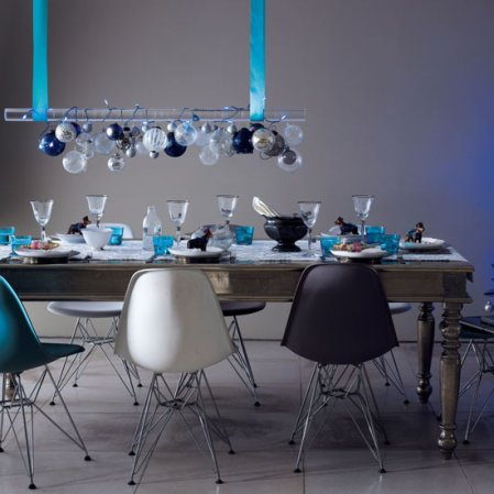 Blue and silver | Christmas dining room | Christmas ideas | Livingetc | Roomenvy