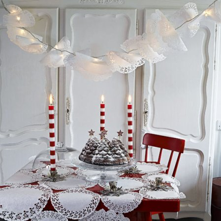 Doily dining room | Christmas ideas | Livingetc | Roomenvy