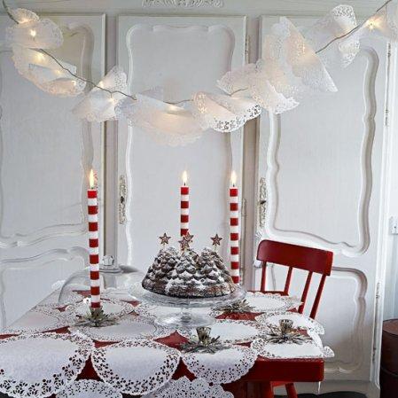 Doily dining room   Christmas ideas   Livingetc   Roomenvy