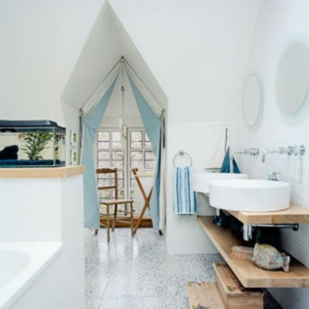 Best bathroom 2010 | Nautical bathroom | Family bathroom | Room Envy