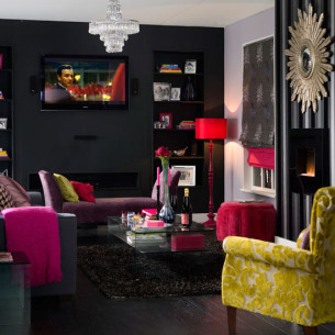 Luxury living room in the style of a boutique hotel