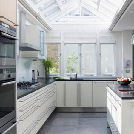 Small kitchen extension   Space-saving kitchen extension   Modern kitchen extension