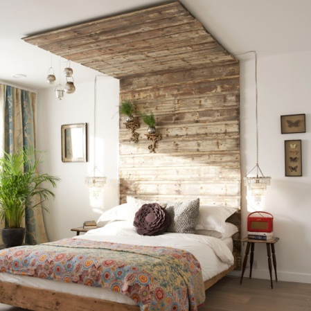 Oliver Heath house | Reclaimed timber bed |Decorating ideas with reclaimed timber | Room Envy