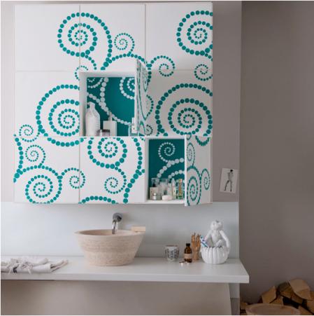 Clever coloured storage | bathroom storage ideas | bright bathroom ideas | roomenvy