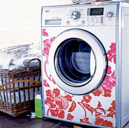 washing machine stickers   washig machine designs   decorative stickers   utility room   roomenvy