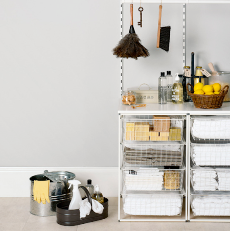 grey and yellow utility room   utility room ideas   modern utility room   roomenvy