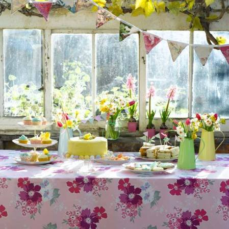 Vintage themed Easter tea party table