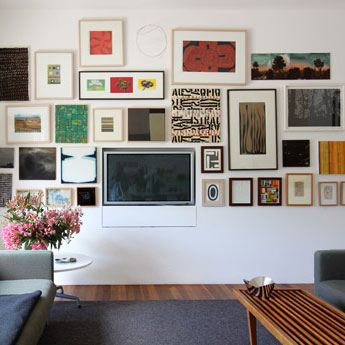 feature wall art display