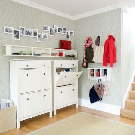 hallway shoe and coat storage